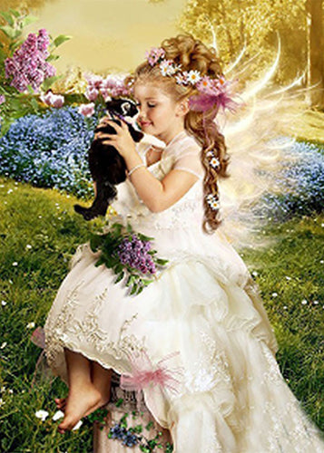 Little Angel in Landscape Diamond Painting
