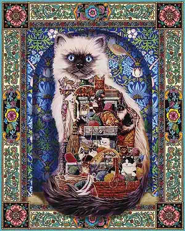 Cat Ball of Yarn Decor 5D Diamond Painting
