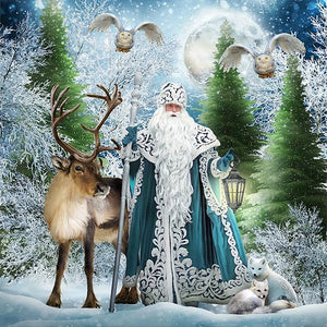 Snow Tree Santa Clause 5D Diamond Painting