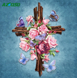 Floral Cross Full Diamond Painting