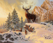 Snow and Deer 5D Diamond Painting