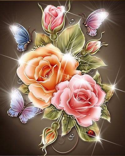 Flowers Diamond 5D Diamond Painting