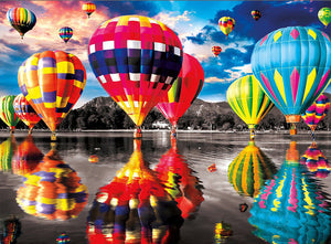 Color Hot Air Balloon Full Square Diamond Painting