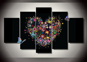 Heart Multi-Panel 5D Diamond Painting