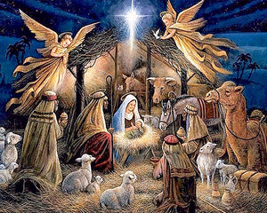 Christ in Manger 5D Diamond Painting