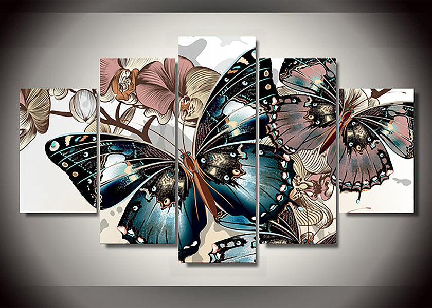 Butterfly Multi-Panel 5D Diamond Painting
