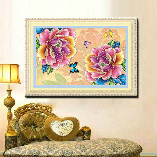 5D DIY Diamond Painting Peony Flower