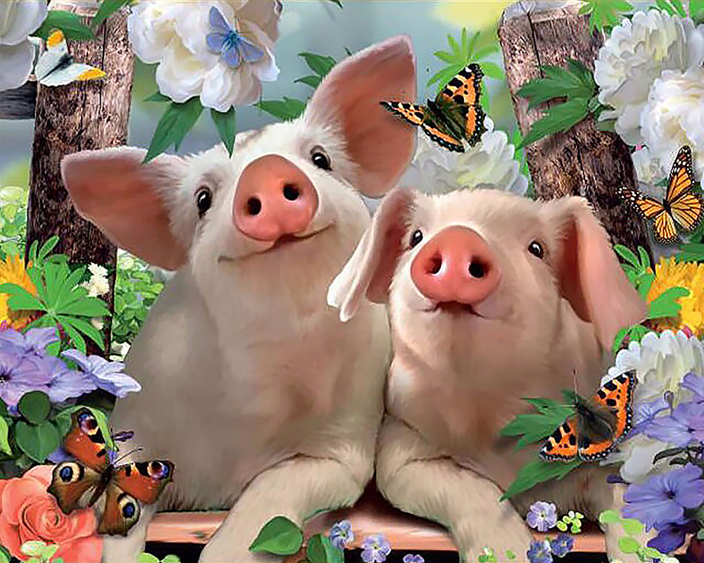 Two Pigs 5D Diamond Painting
