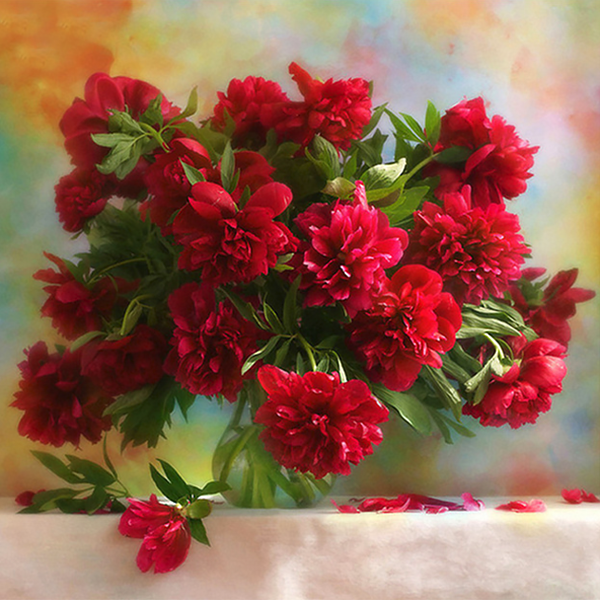 Red Flower 5D Diamond Painting