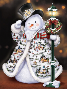 Frosty Snowman Full Square Diamond Painting