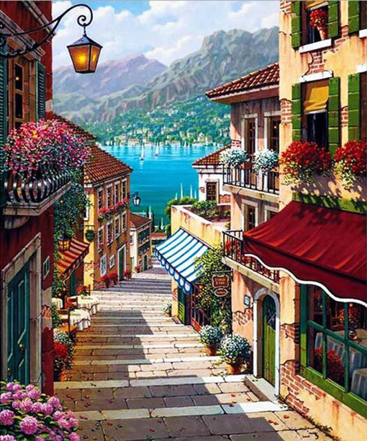 Street View Full Square Diamond Painting