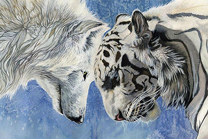 Snow Wolf & White Tiger 5D Diamond Painting