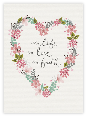 In life, in love, in faith