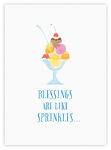 Blessings are like sprinkles