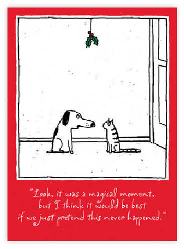 DOG AND CAT MISTLETOE