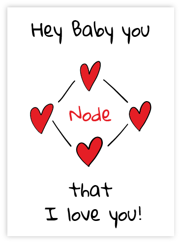 Baby Node that I love you
