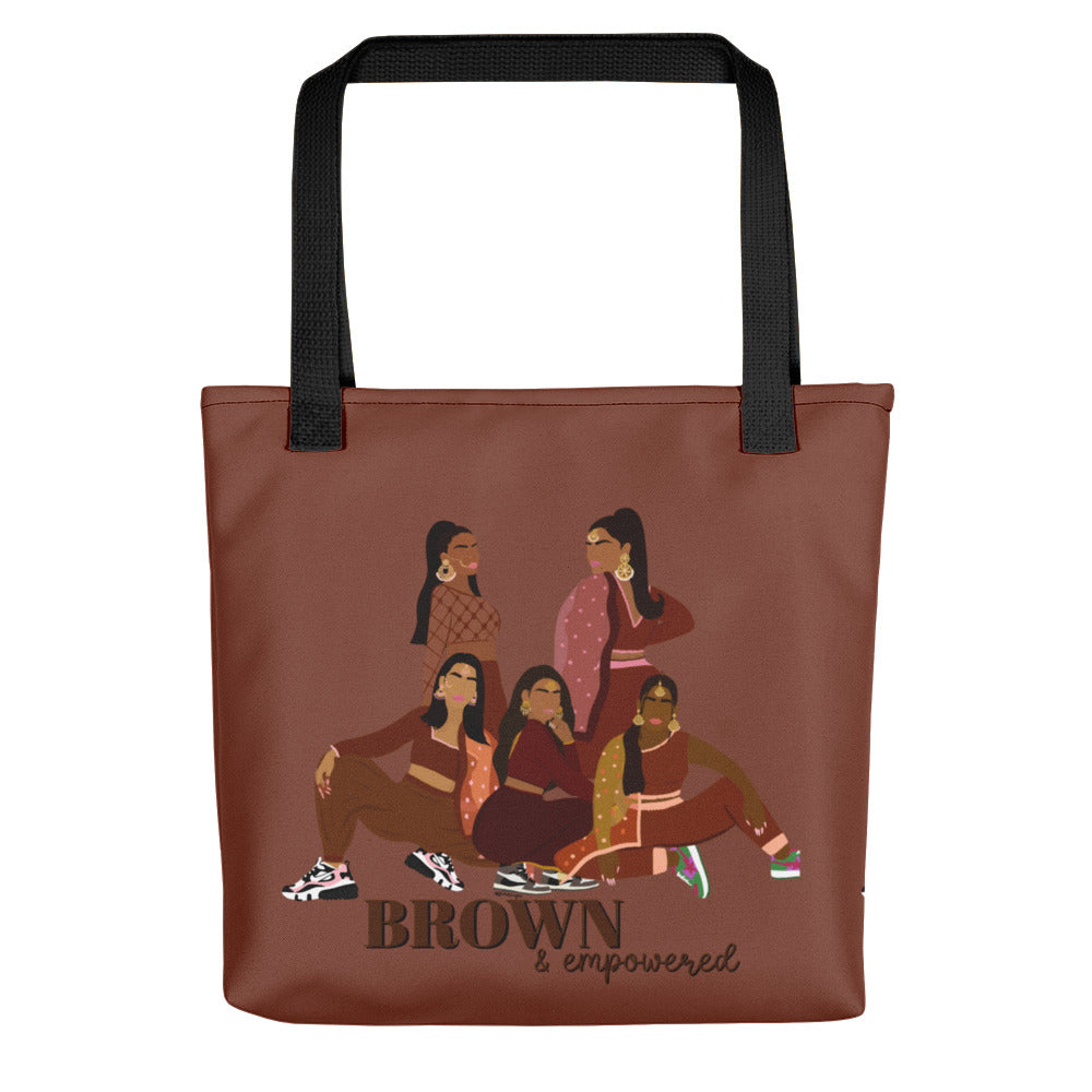 Brown & Empowered Tote bag
