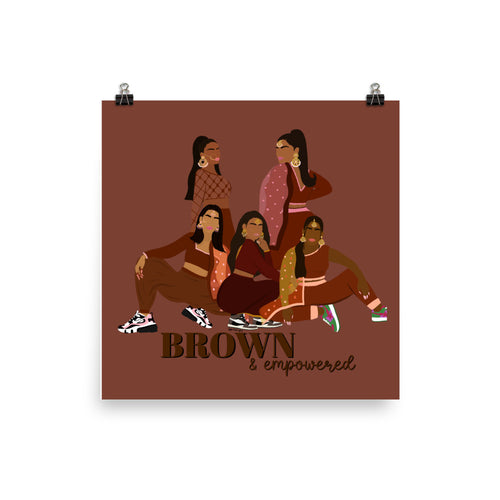 Brown & Empowered Print