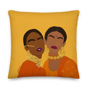 Caramel Goddesses Throw Pillow