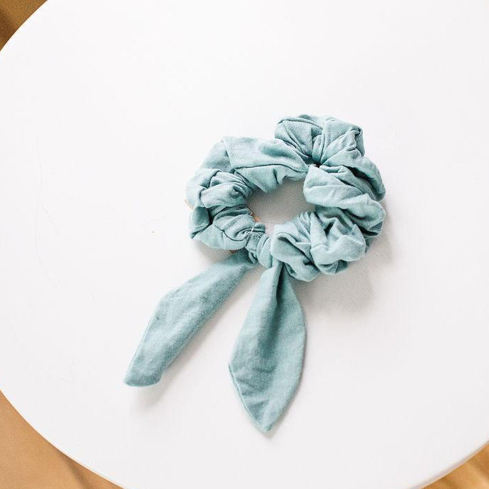 Jersey Cotton Scrunchie - Light Teal