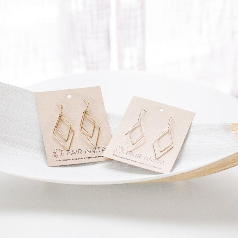 Rhombus Dangle Earrings