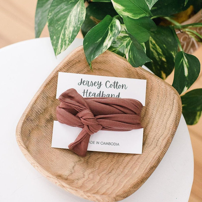 Jersey Cotton Headband - Terracotta