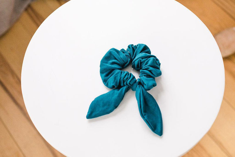 Jersey Cotton Scrunchie - Dark Teal