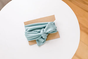 Jersey Cotton Headband - Light Blue