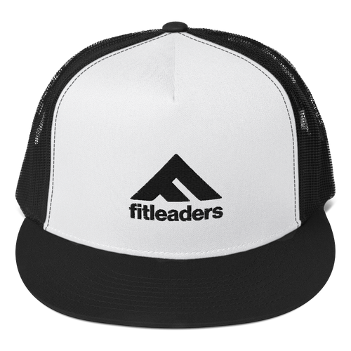 Fit Leaders logo - Black Trucker Cap - Fit Leaders