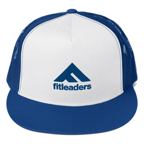 Fit Leaders logo - Blue Trucker Cap - Fit Leaders