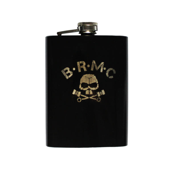 PISTON SKULL BLACK HIP FLASK