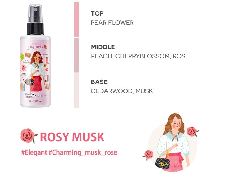 [Annelies Edition] MISSHA All Over Perfume Mist [Rosy Musk] (120ml)