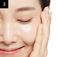 MISSHA 3step Hydrating Mask (15g,22g,1.5g) Direction
