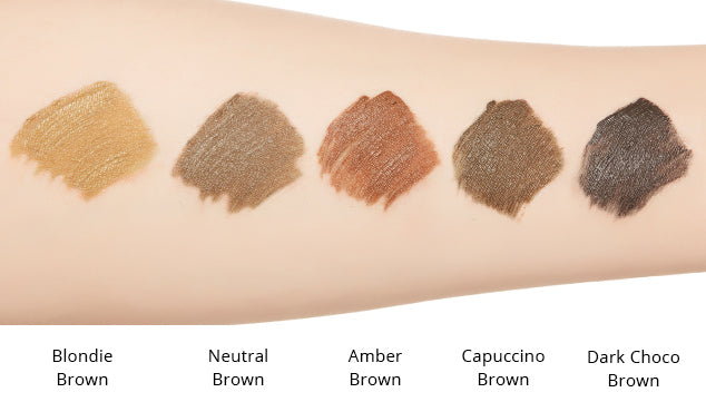 MISSHA Color Wear Browcara Color Chart