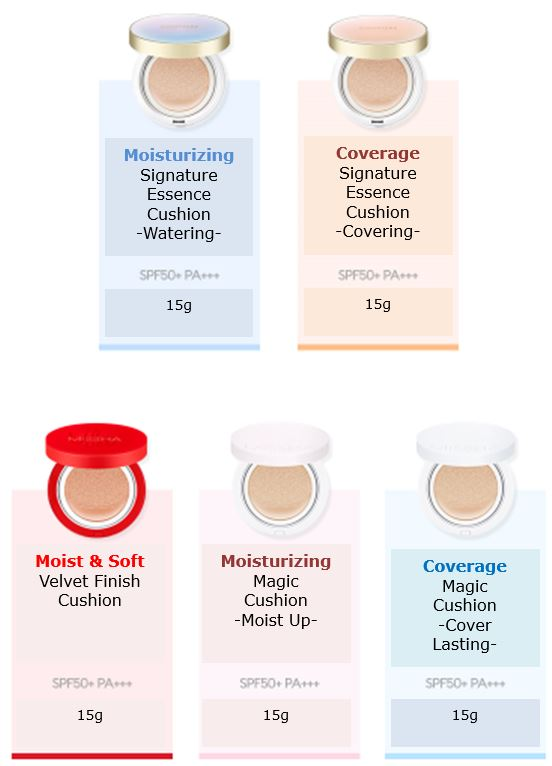 MISSHA Cushion Range