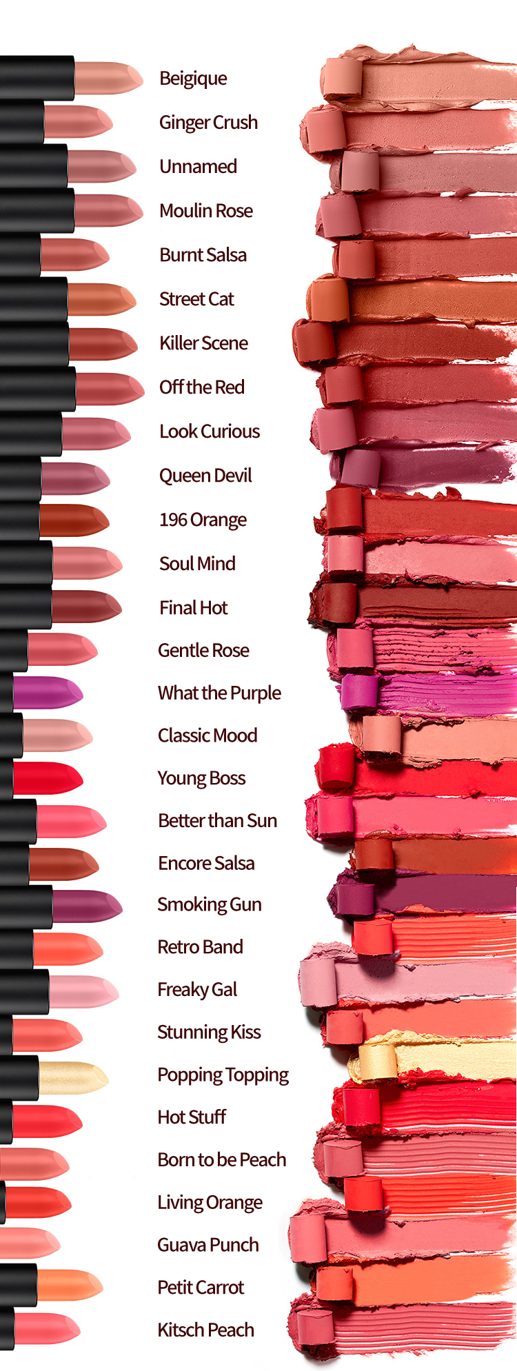 MISSHA Dare Rouge Color Chart