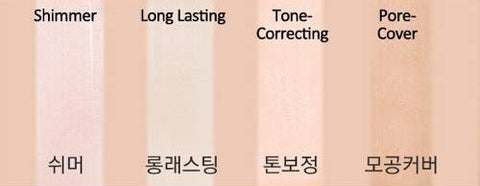 MISSHA Layer Blurring Primer Color Chart