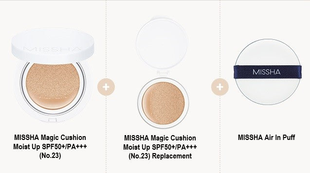 MISSHA Magic Cushion Moist Up Special Set [No.23]+23(R)+Puff
