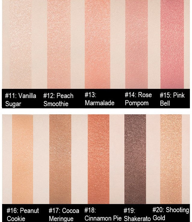 MISSHA Modern Shadow [Italprism] Color Chart