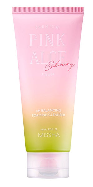 MISSHA Premium Pink Aloe pH Balancing Foaming Cleanser (140ml)