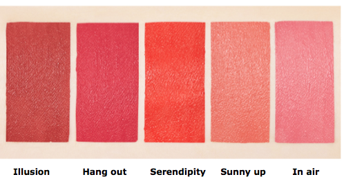 MISSHA Velvet Lip Fluid Color Chart