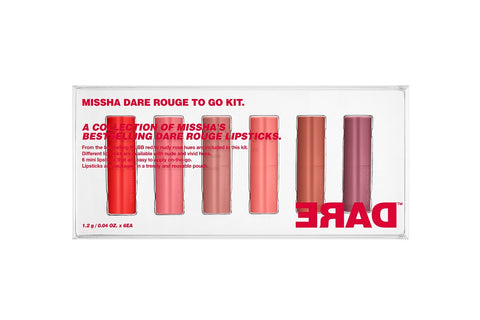 MISSHA Dare Rouge To Go Kit (Limited) (1.2gx6ea)