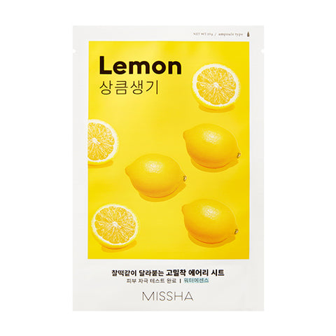 MISSHA Airy Fit Sheet Mask (Lemon) (0.19g)