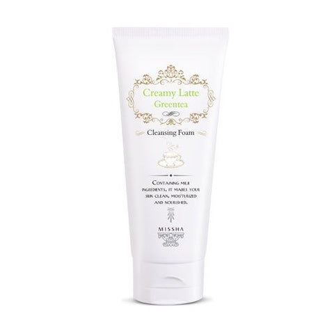 MISSHA Creamy Latte Greentea Cleansing Foam (172ml)