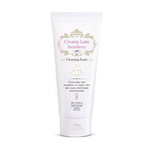 MISSHA Creamy Latte Strawberry Cleansing Foam (172ml)