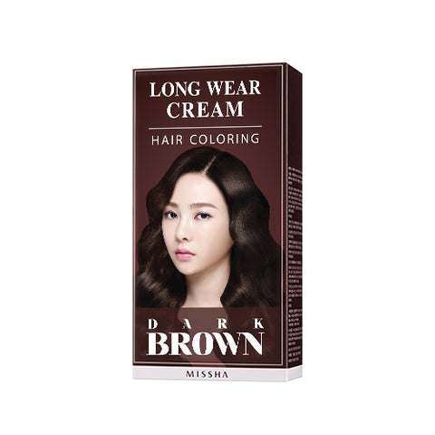 MISSHA Long Wear Cream Hair Coloring (Dark Brown) 6N