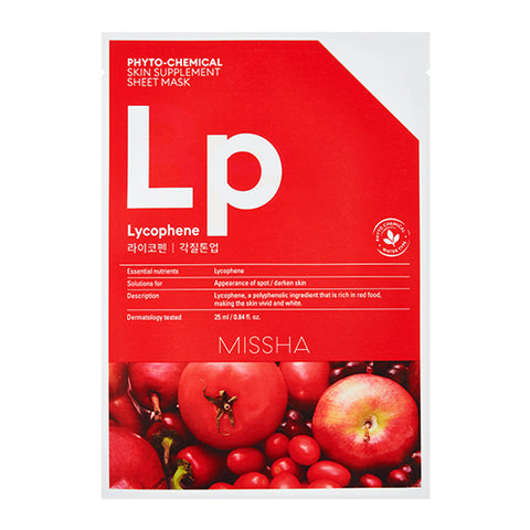 MISSHA Phyto-Chemical Skin Supplement Sheet Mask (Laycophene/ Peeling Tone Up) (25ml)