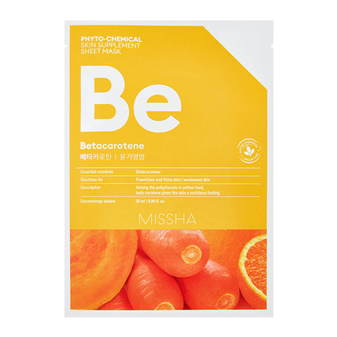 MISSHA Phyto-Chemical Skin Supplement Sheet Mask (Betacarotene/ Nourishing) (25ml)