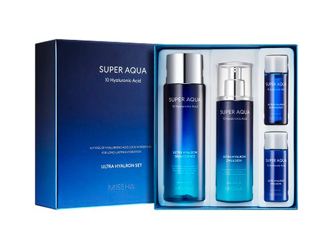 MISSHA Super Aqua Ultra Hyalron Set (Essence In Toner + Moisturizer)