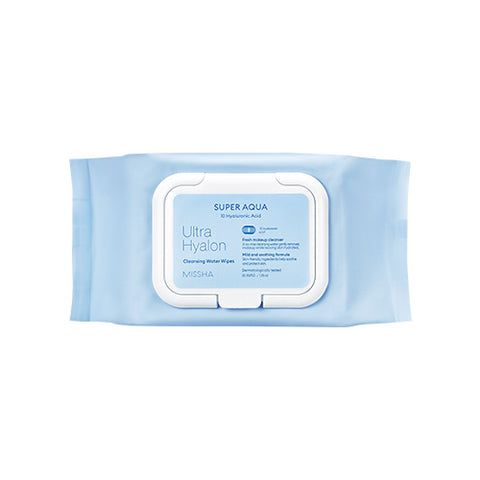 MISSHA Super Aqua Ultra Hyalron Cleansing Water Wipes (30 Wipes/139ml)